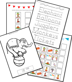 Circus Book/Activity Packet Bundle