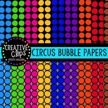 Circus Bubble Papers {Creative Clips Digital Clipart}