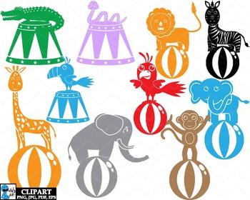 Circus Carnival Monogram - Clip Art Digital Files Personal Commercial Use cod260