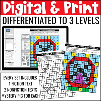 Circus/Carnival Themed Close Reading Comprehension Passages | ELA Test Prep