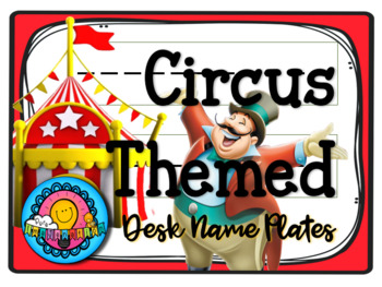 Circus Carnival Themed Desk Plates Name Tag Labels
