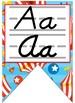 Circus, Carnival, themed cursive and print Alphabet Strip Banner