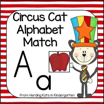 Circus Cat Alphabet Match-Up