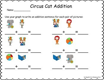 Circus Cat Roll & Graph Activity