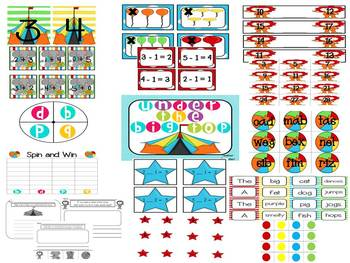 Circus Centers (4 Math and 4 Literacy) **CCSS aligned**