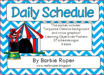 Circus Chevron (blue/red)  Daily Schedule