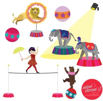 Circus Circus Clip Art Set