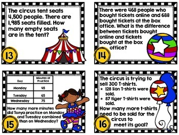 Circus Circus-Single and Multistep Word Problems