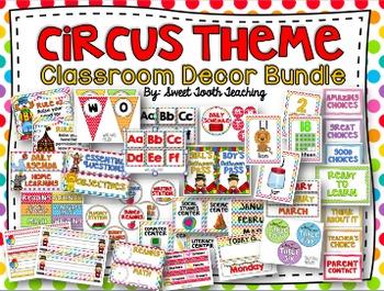 Circus Classroom Decor BUNDLE
