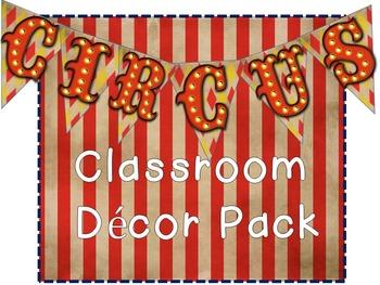 Circus Classroom Decor (Editable)