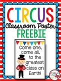Circus Classroom Poster Freebie