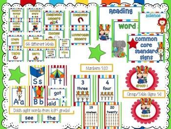 Circus Classroom Theme