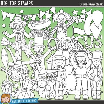 """Circus Clip Art: """"Big Top"""""""