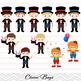 Circus Clip Art Boys Circus Digital Clip Art Carnival Boy Circus Party, 00194
