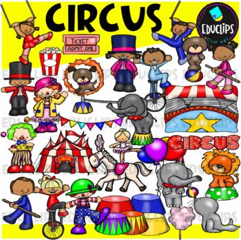 Circus Clip Art Bundle {Educlips Clipart}