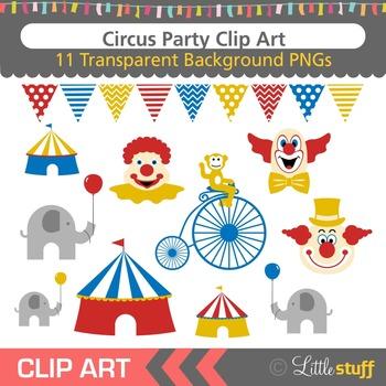 Circus Clip Art, Clown Clipart, Circus Tent, Animals