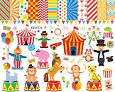 Circus Clip Art: Digital Clip Arts, Papers, Backgrounds {Clip Art J} {Animals}