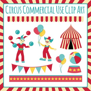 Circus Clip Art Set for Commercial Use