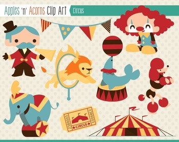 Circus Clip Art - color and outlines