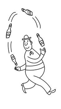 Circus Clipart-Juggler