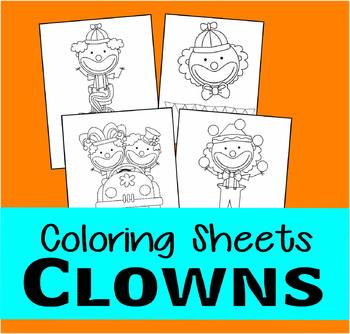 Circus Clown Coloring Sheets