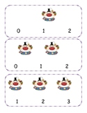 Circus Clown Counting clip cards