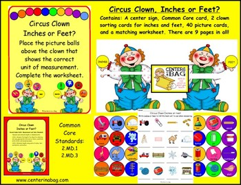 Circus Clown, Inches or Feet? (2.MD.1, 2.MD.3)