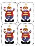 Circus Clown Number Flashcards