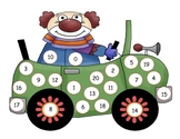Circus Clown Number Mat to 20