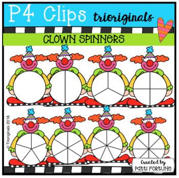 Circus Clown Spinners (P4 Clips Trioriginals)