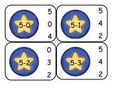 Circus Clown Subtraction Clip Card Math Center