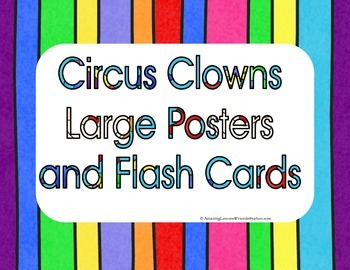 Circus Clowns Large Posters and Flash Cards
