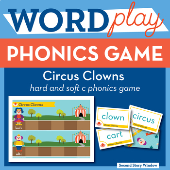 Circus Clowns hard and soft c Phonics Game - Words Their Way Game