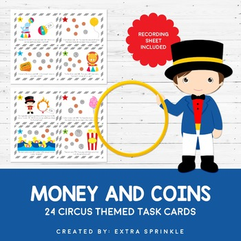 Circus Coins and Money Task Cards