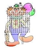 Circus Comes to Town - Word Search