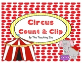 Circus Count & Clip 1-20 Task Cards