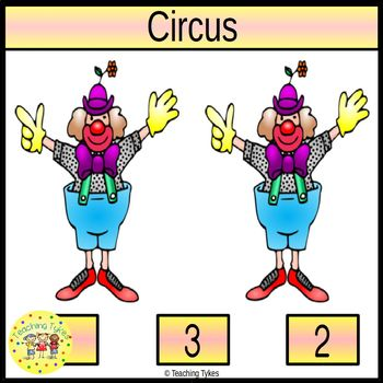 Circus Count and Clip Task Cards