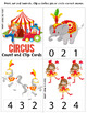Circus Count and Clip cards - Great for Math centers