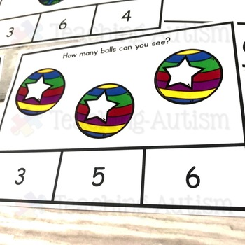 Circus Counting Task Cards Math Activity