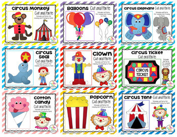 Circus Cut and Paste Set