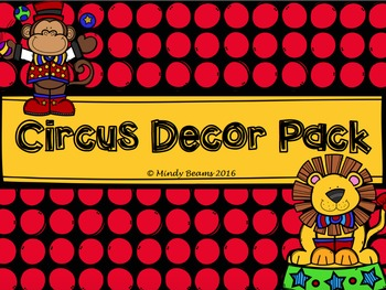 Circus Decor Pack