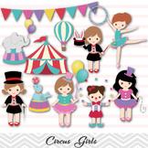 Circus Digital Clip Art Girls Circus Clip Art Carnival Girl Circus Party, 00193