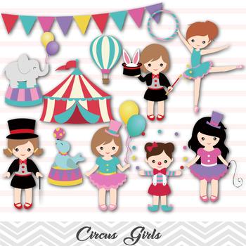 Circus Digital Clip Art Girls Circus Clip Art Carnival Gir