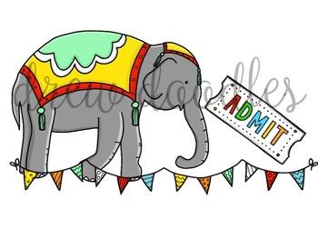 Circus Digital Clip Art Set