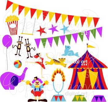 Circus Digital Clipart by Poppydreamz