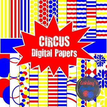 Circus Digital Paper Set