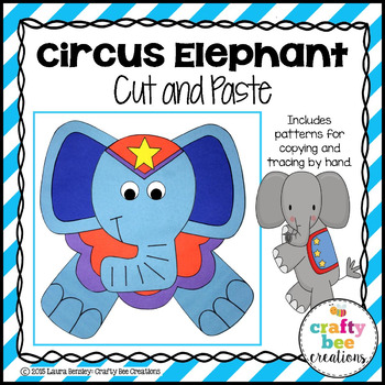 Circus Elephant Cut and Paste