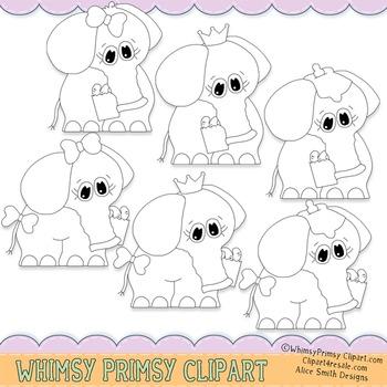 Circus Elephants - BW