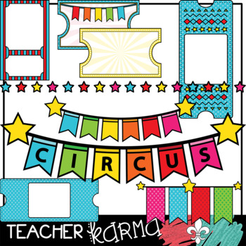 Circus FUN Clipart BIG BUNDLE &  Seller's Kit