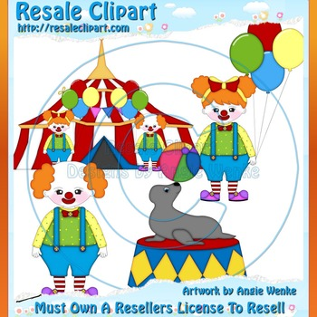 Circus Family 1 ClipArt - Commercial Use